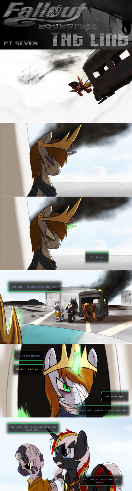 COMMISSION - Fallout Equestria: The Line (Pt 7) by Brisineo