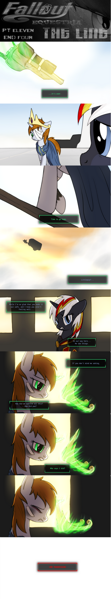 COMMISSION - Fallout Equestria: The Line ENDING 4 by Brisineo