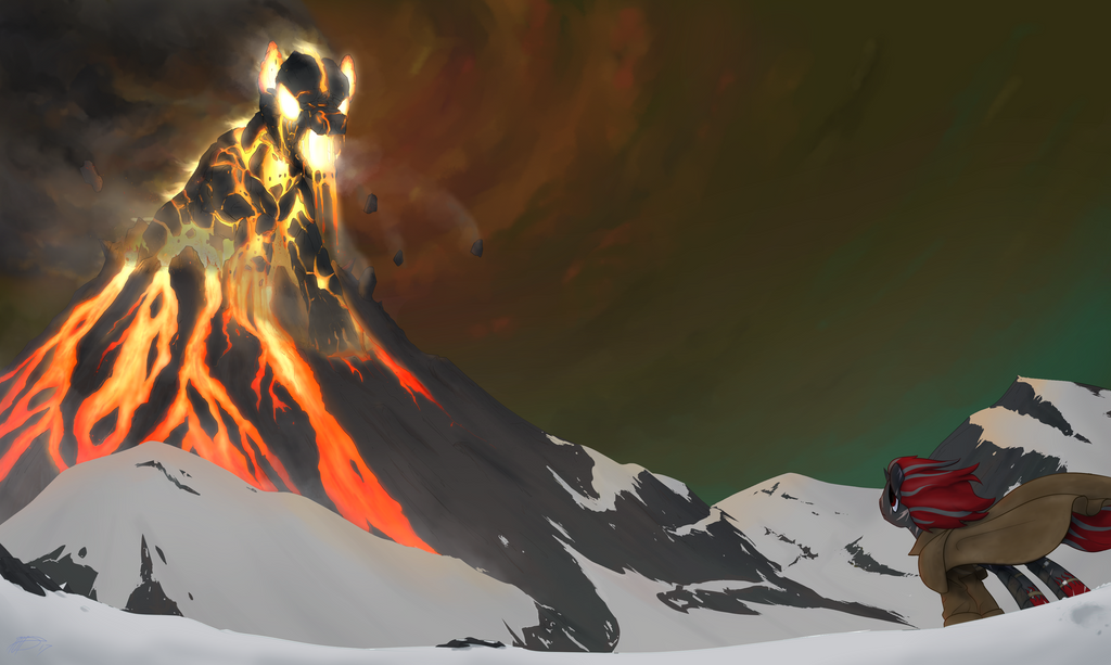 COMMISSION - Lava Crimson by Brisineo