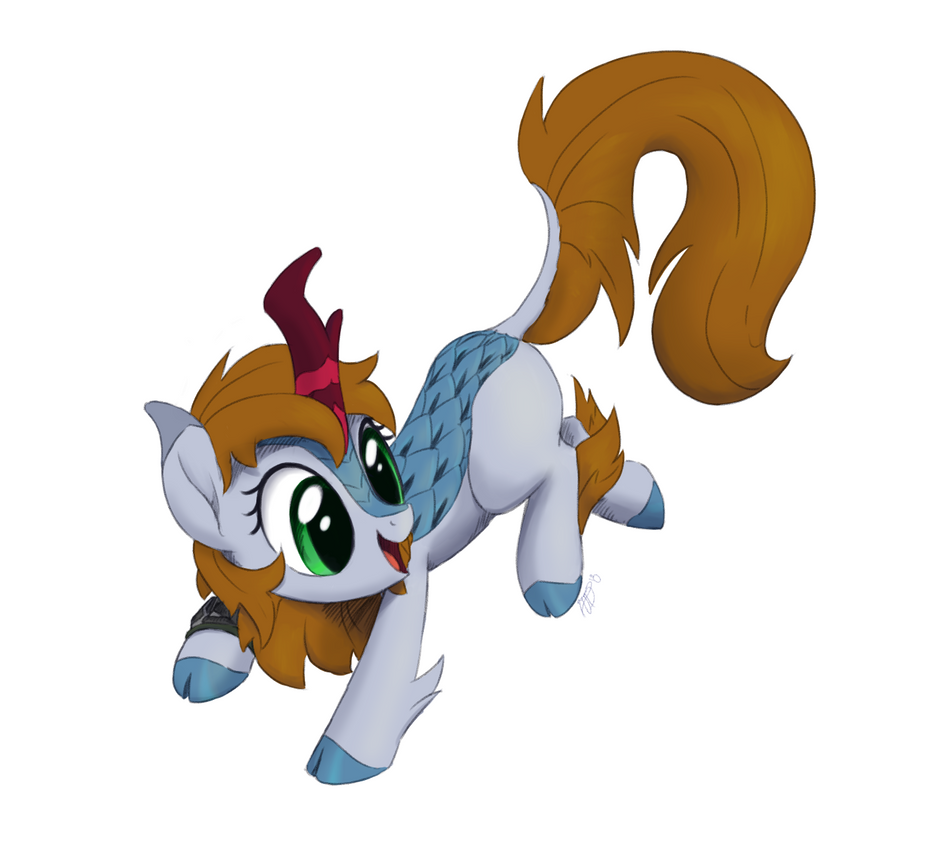 Kirin-ified Littlepip by Brisineo