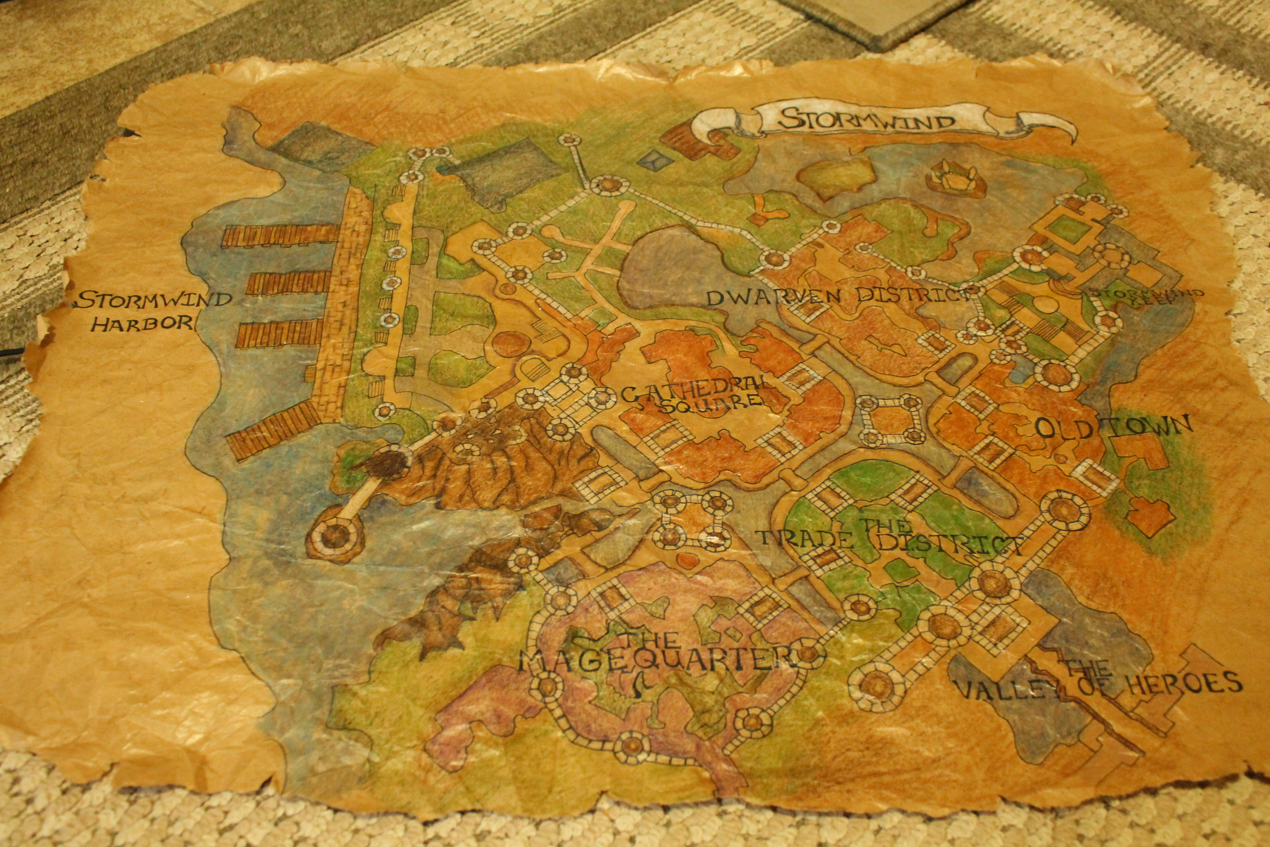 World of Warcraft Map Stormwind Photo updated by
