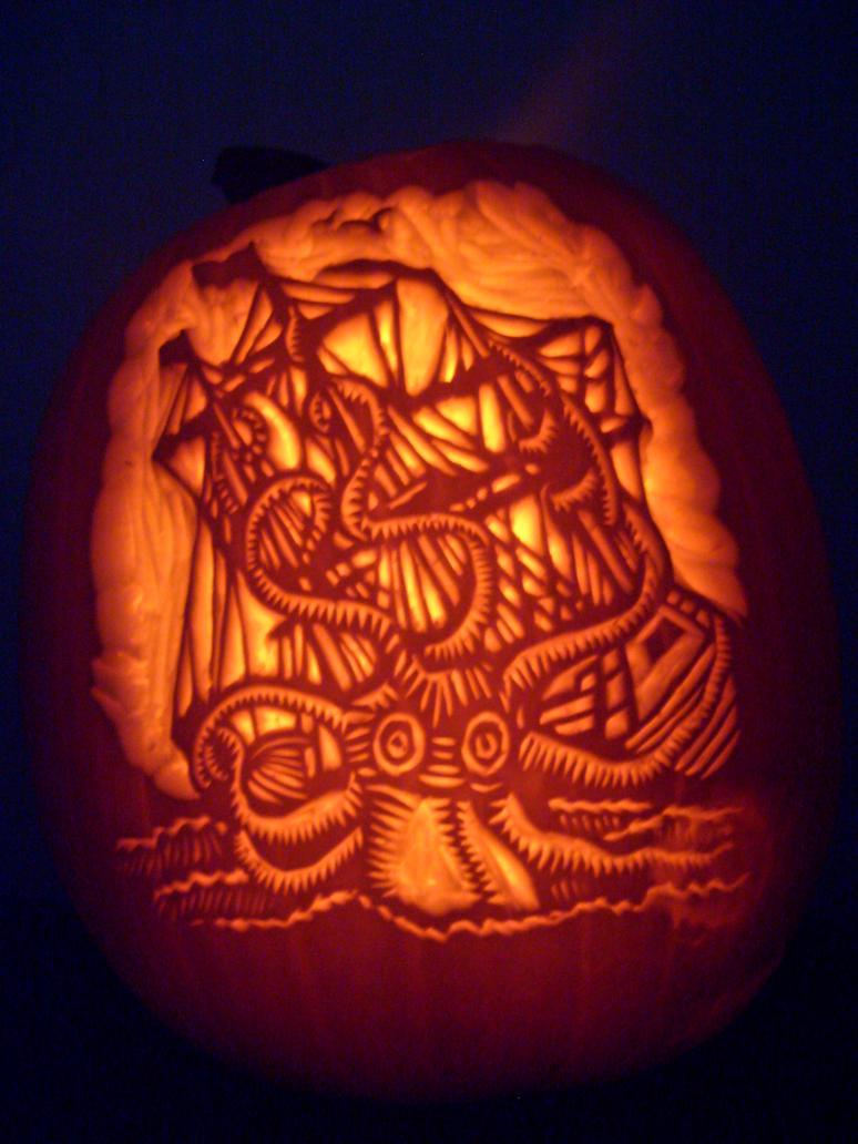 Kraken-o-lantern by NParten