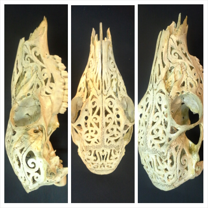 Carved deer skull by nparten on deviantart