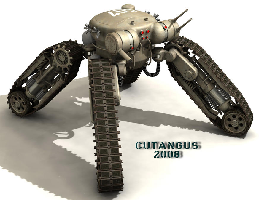 TRACKED-LEGGED COMBAT ROBOT by CUTANGUS on DeviantArt