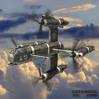3-PLACE VTOL AIRCRAFT by CUTANGUS
