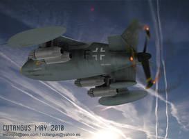 FLYING AT DUSK by CUTANGUS