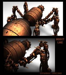 Rusted Steampunk bug by CUTANGUS