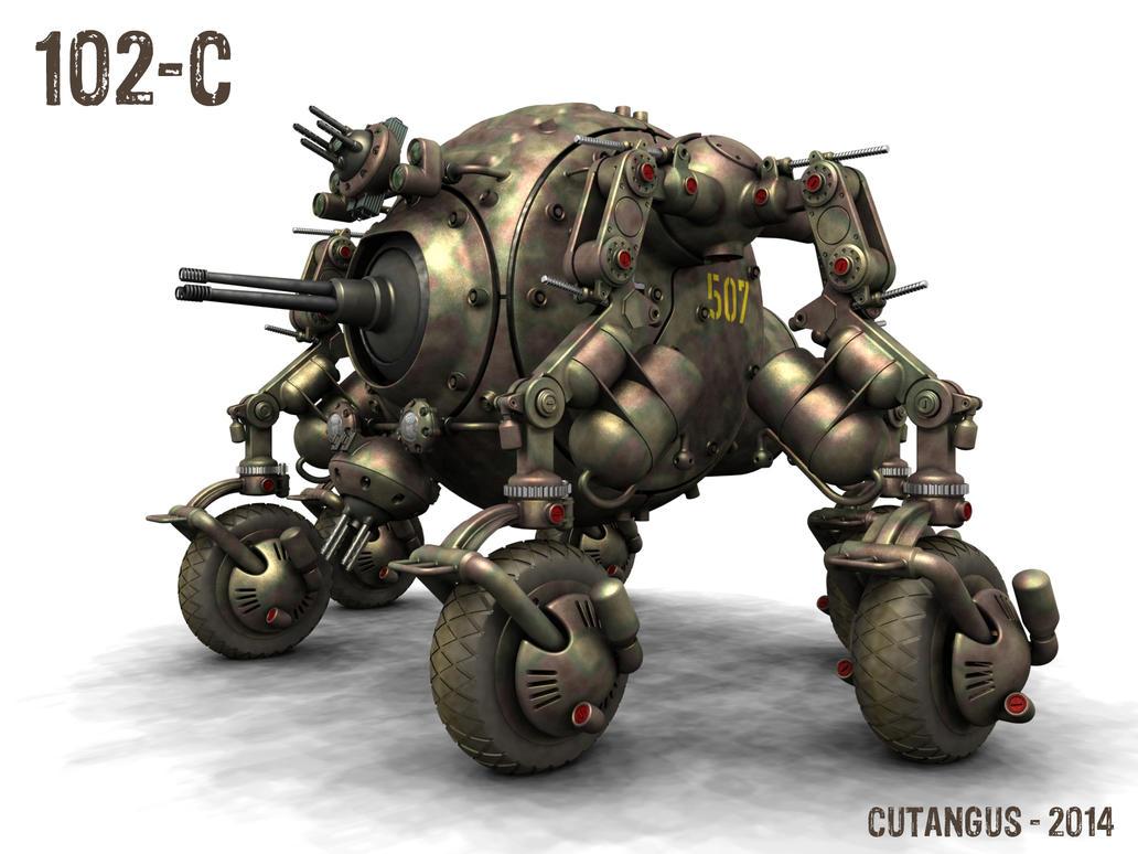 Scouting Dieselpunk machine by CUTANGUS