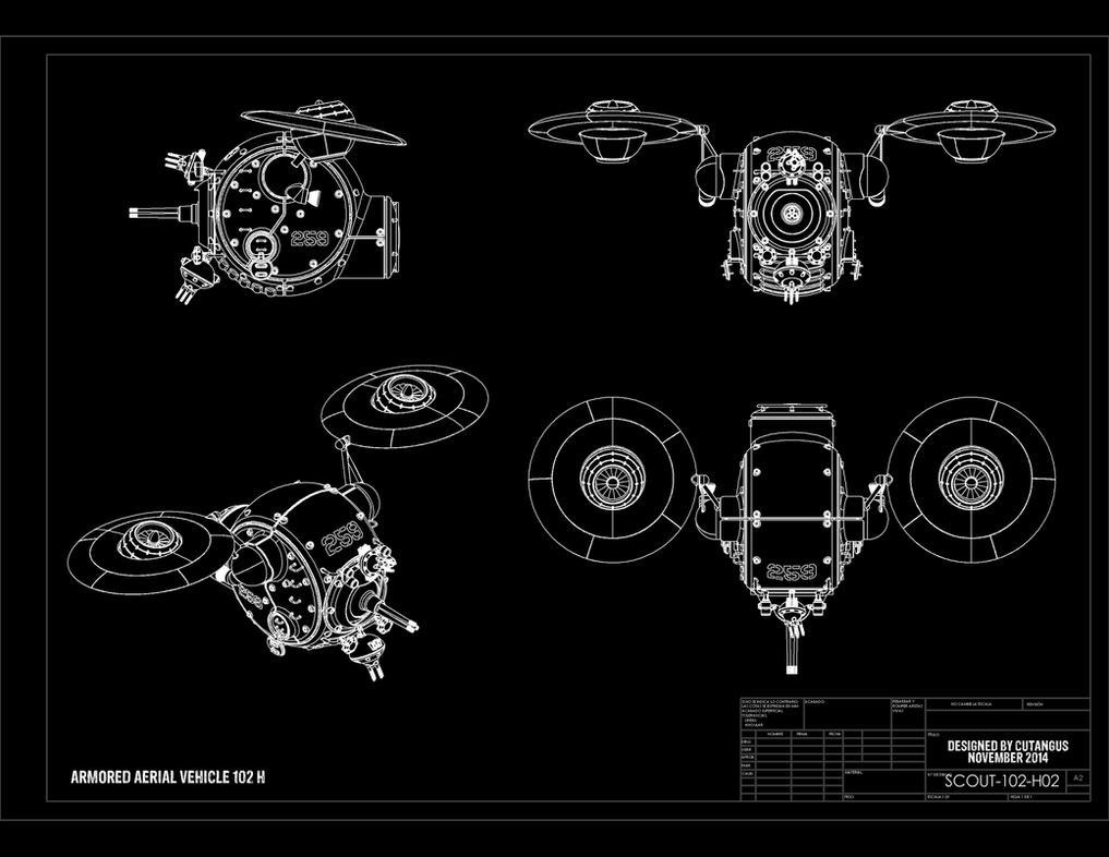 SCOUT 102-H Blueprints by CUTANGUS