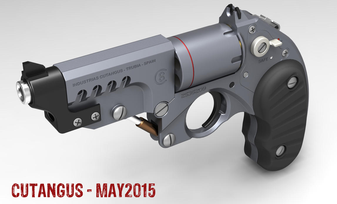 Retrofuturist revolver by CUTANGUS