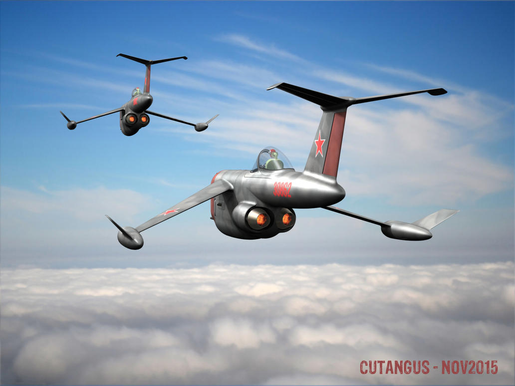 A pair of Soviet 181's flying together by CUTANGUS