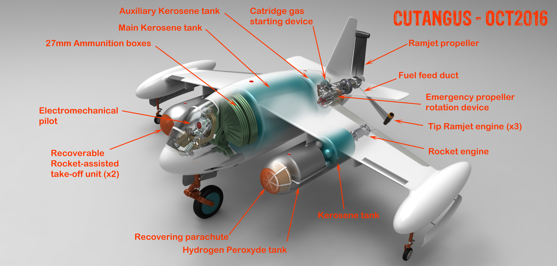 Ramjet propeller driven interceptor Cu-113 (II) by CUTANGUS