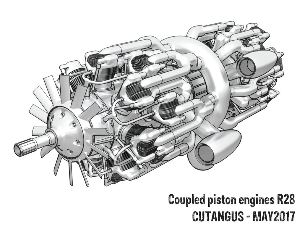 Coupled aircraft engine by CUTANGUS