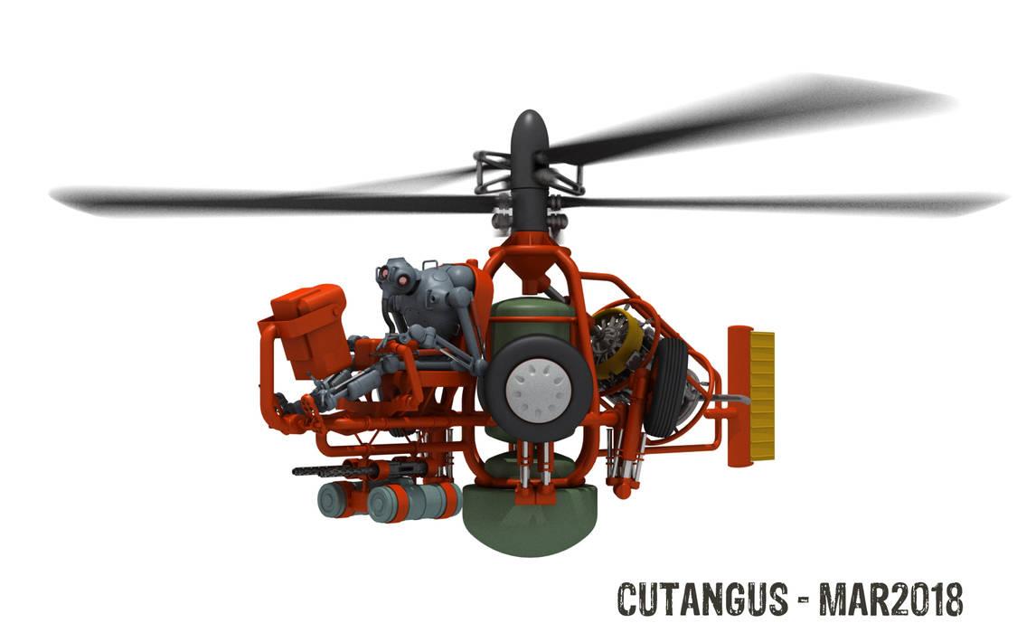 Flying Mech Guy by CUTANGUS