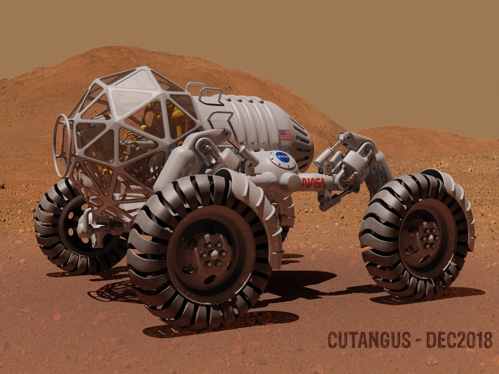 Mars Rover Vehicle (I) by CUTANGUS