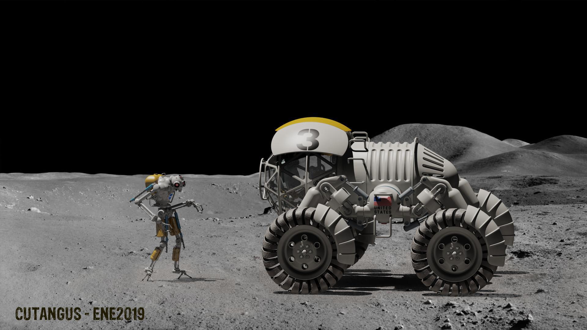 Manoeuvering in the Moon by CUTANGUS