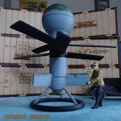 VTOL aerial mine model