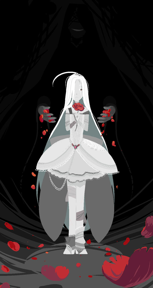 Snow-white girl with a scarlet soul by Shadow-Wood