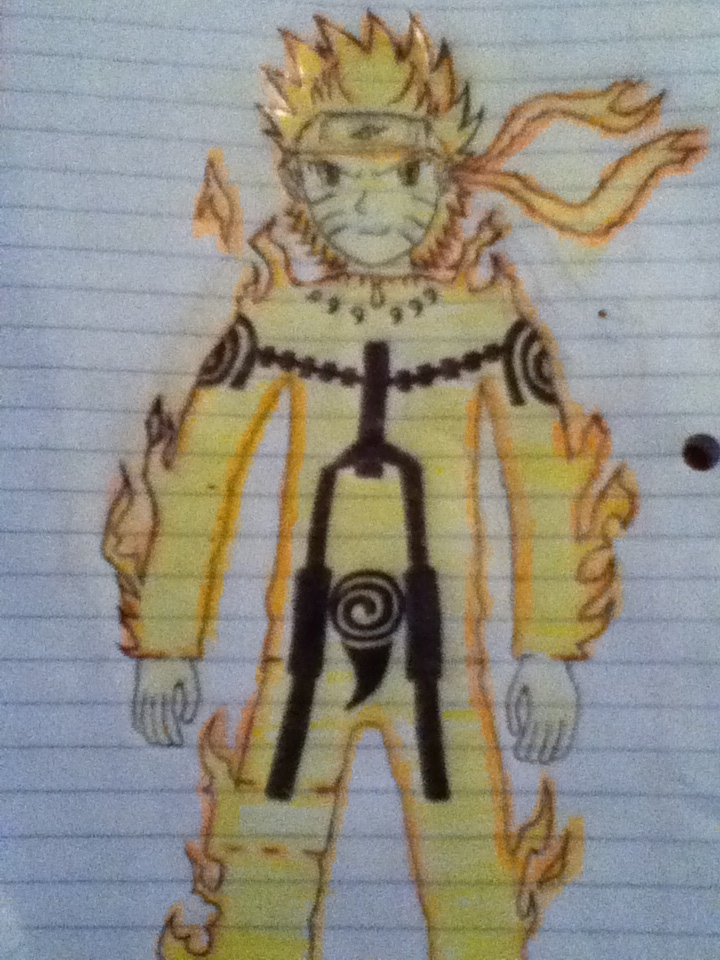 Naruto Uzumaki Drawing Full Body Traffic Club