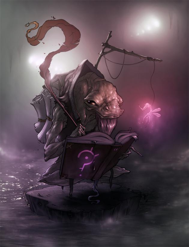 Mythmonger, deep lizard. by glitchritual