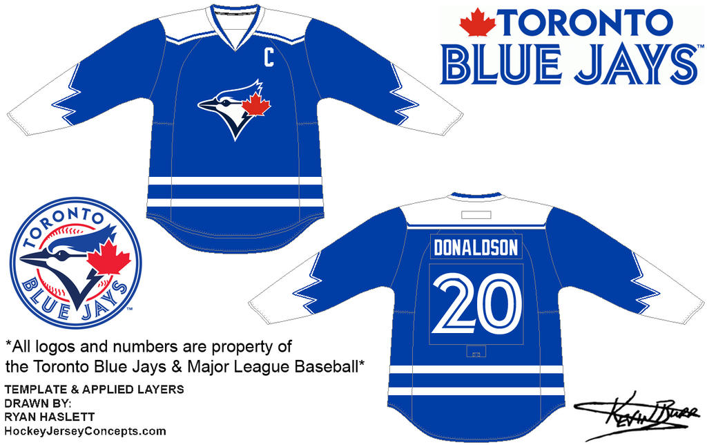 premium selection 8033b 46ae3 Toronto Blue Jays Hockey (Away) by kevinpburr on DeviantArt
