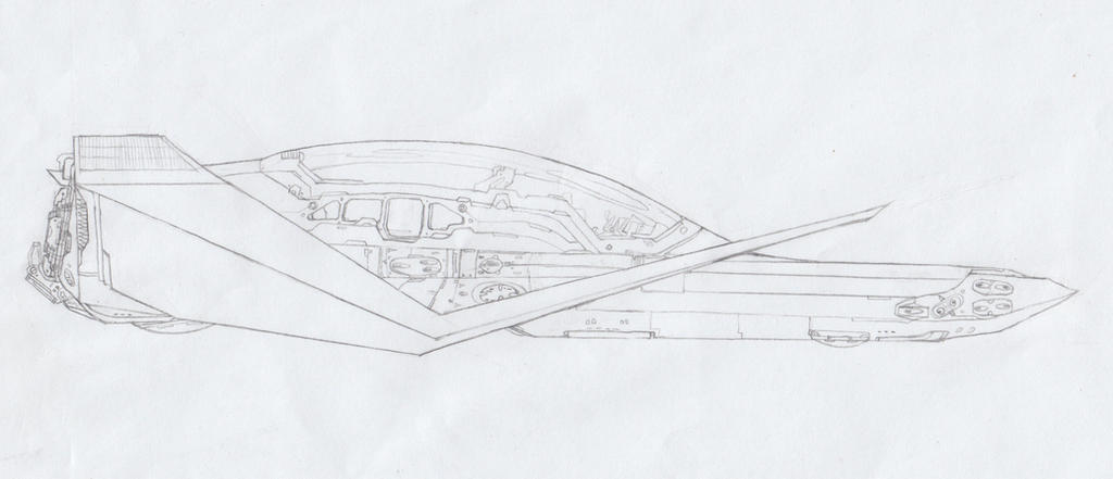 Sem's LB-S5 MicroShuttle. by DeustisOfShadows