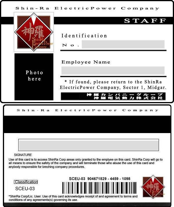 ShinRa ID Card by turks-yo