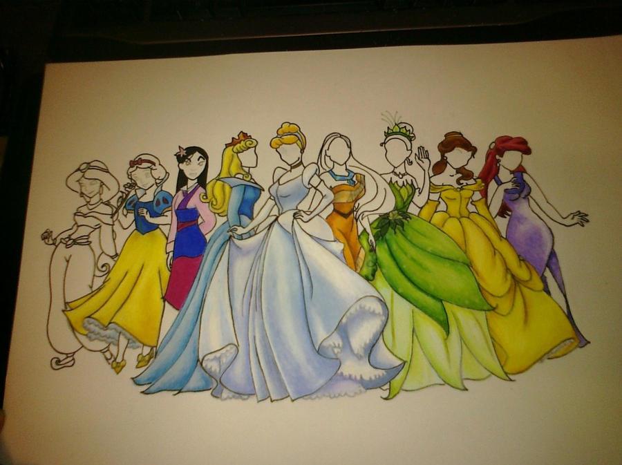 Disney Princesses by xo-laDEEda