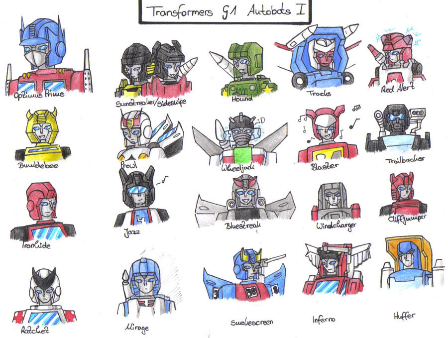 TF - G1 Autobots Part 1 by BeeLovesCade on DeviantArt