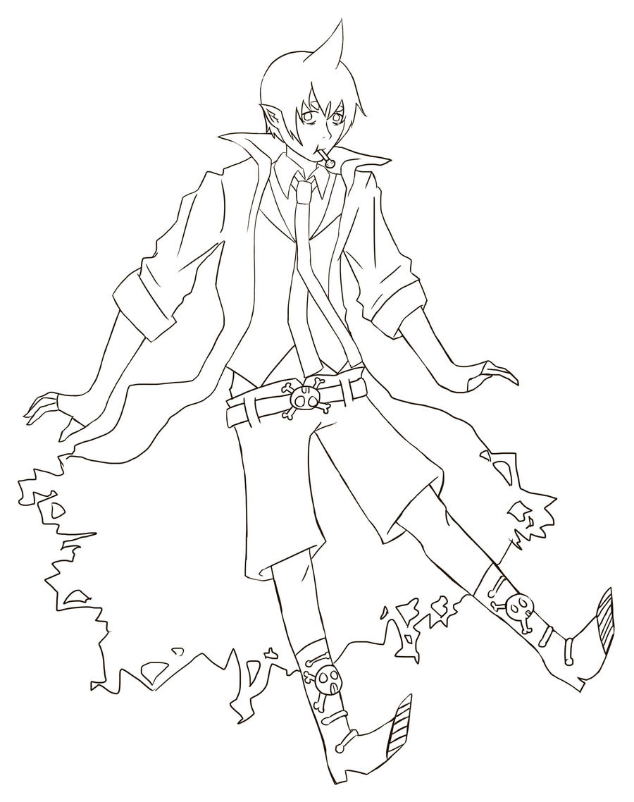 Drawing Smooth Lines With Cocos D : Blue exorcist coloring pages ao no by