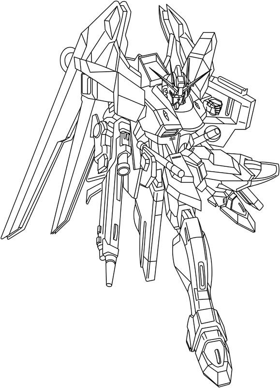 Gundam free coloring pages for Gundam wing coloring pages
