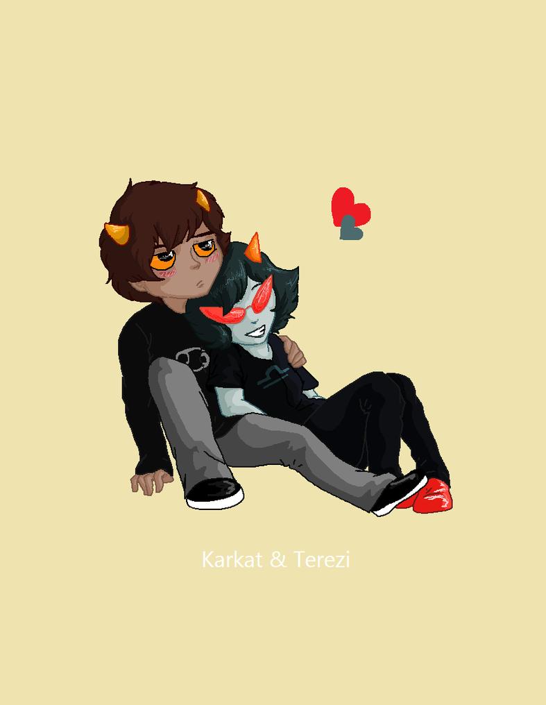 Karkat And Terezi Terezi and Kark...