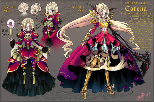 OC: Corona-The Witch Knight Reference