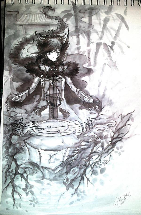 Tsumugi Uta[Ink Sketch Cover] by Ruri-dere
