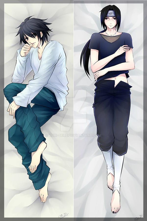 Commission Itachi And L Pillow By Ruri Dere On DeviantArt