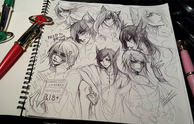 Tagged//Sketching with Sailor moon pen...
