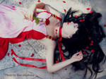In the rose petals