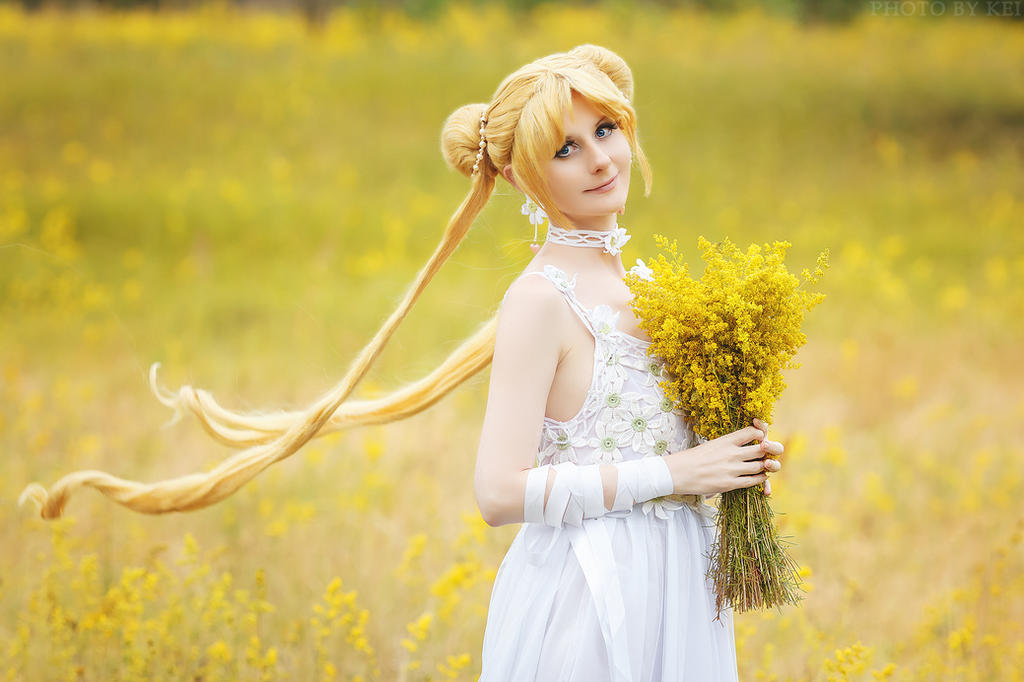 Usagi Tsukino. Spring Flowers by LoveSenshi