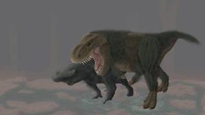 Tyrannosaur and Rhino