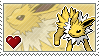 Jolteon Stamp by Porygon-Z