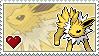 Jolteon Stamp by Porygon-Z