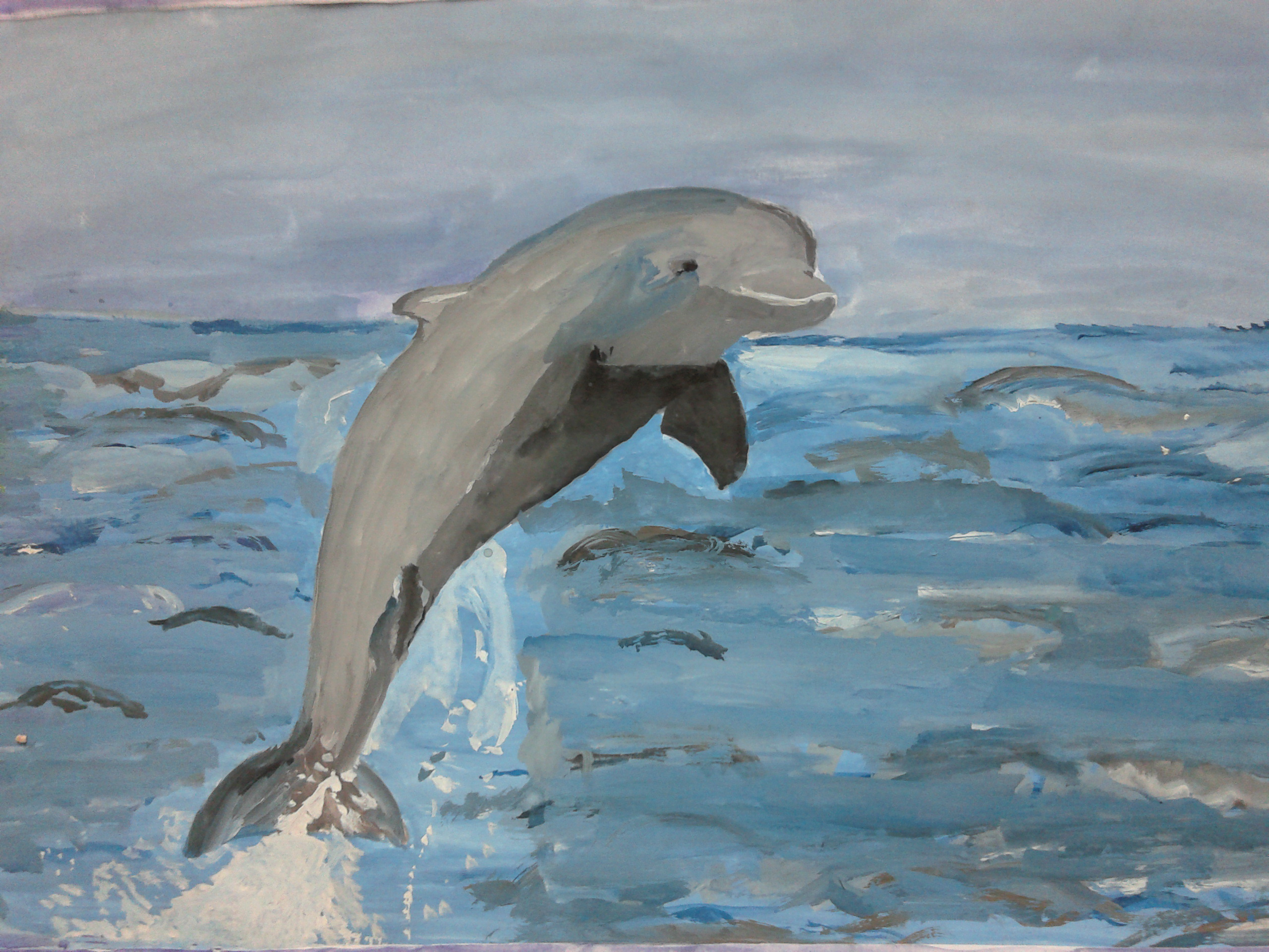 A jumping dolphin by Nemirva