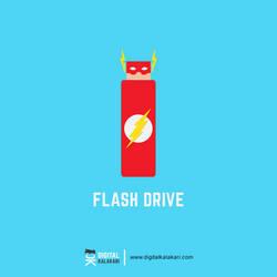 Flash Drive   lllustration by digitalkalakari