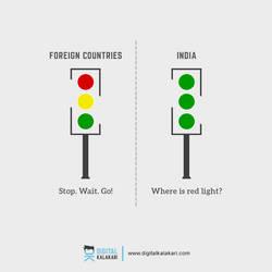 Traffic Rules   India vs World by digitalkalakari