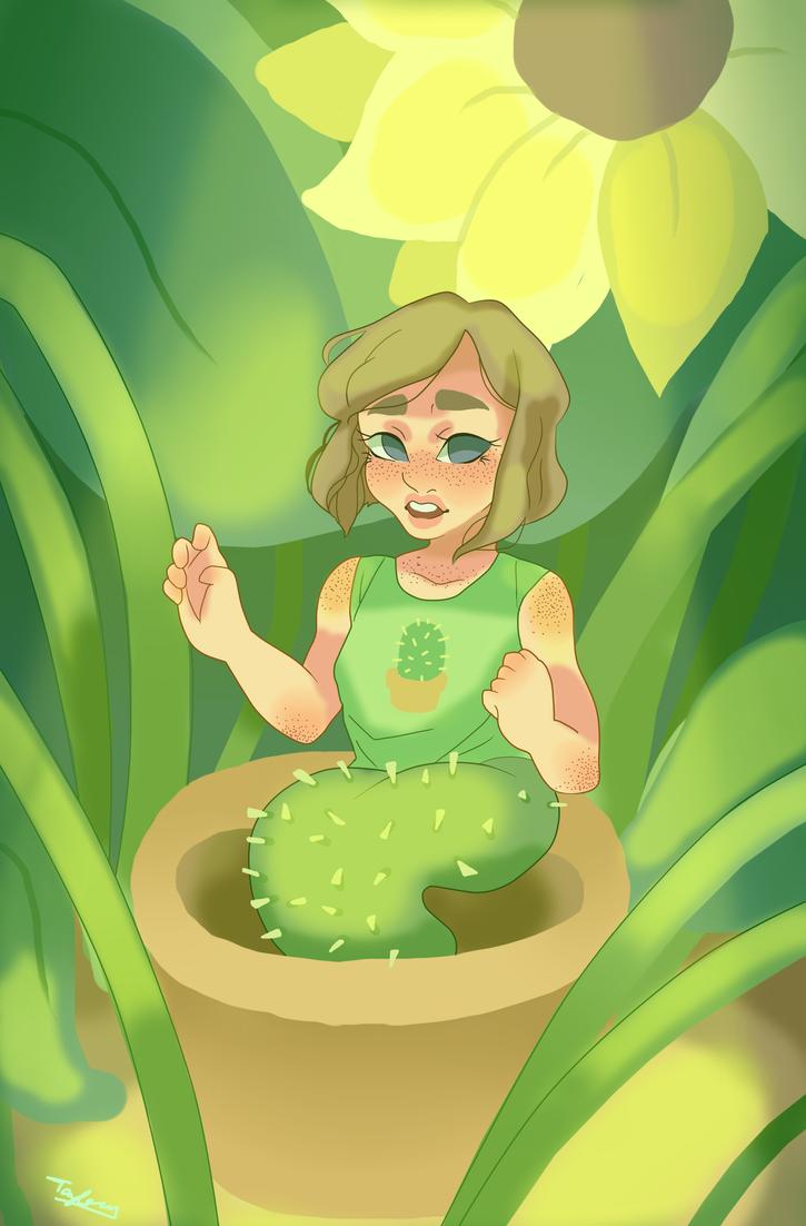Cactus Mermaid by raisedbygrove