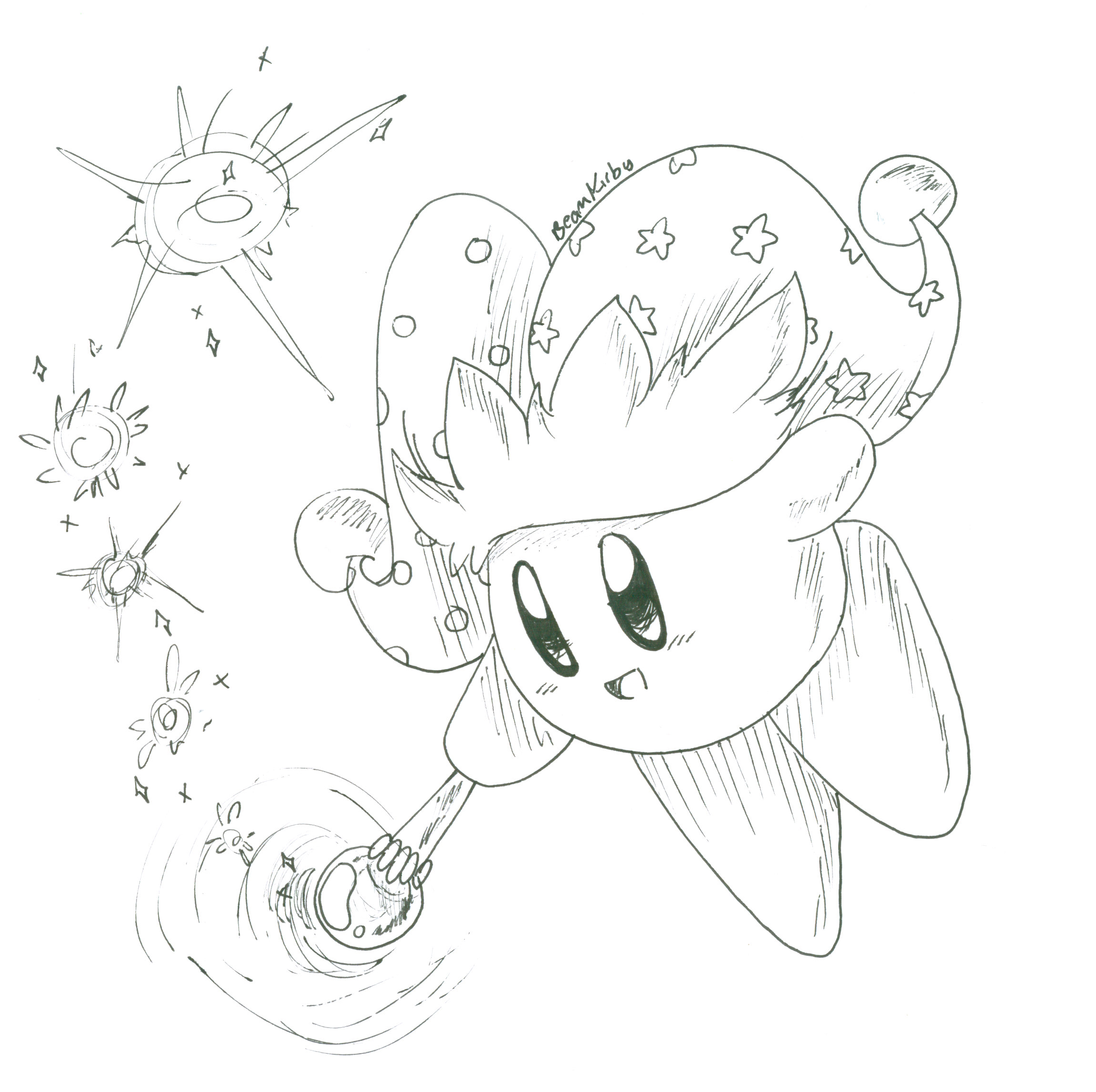Coloring pages kirby - Beam Kirby By Crashkirby888 Beam Kirby By Crashkirby888