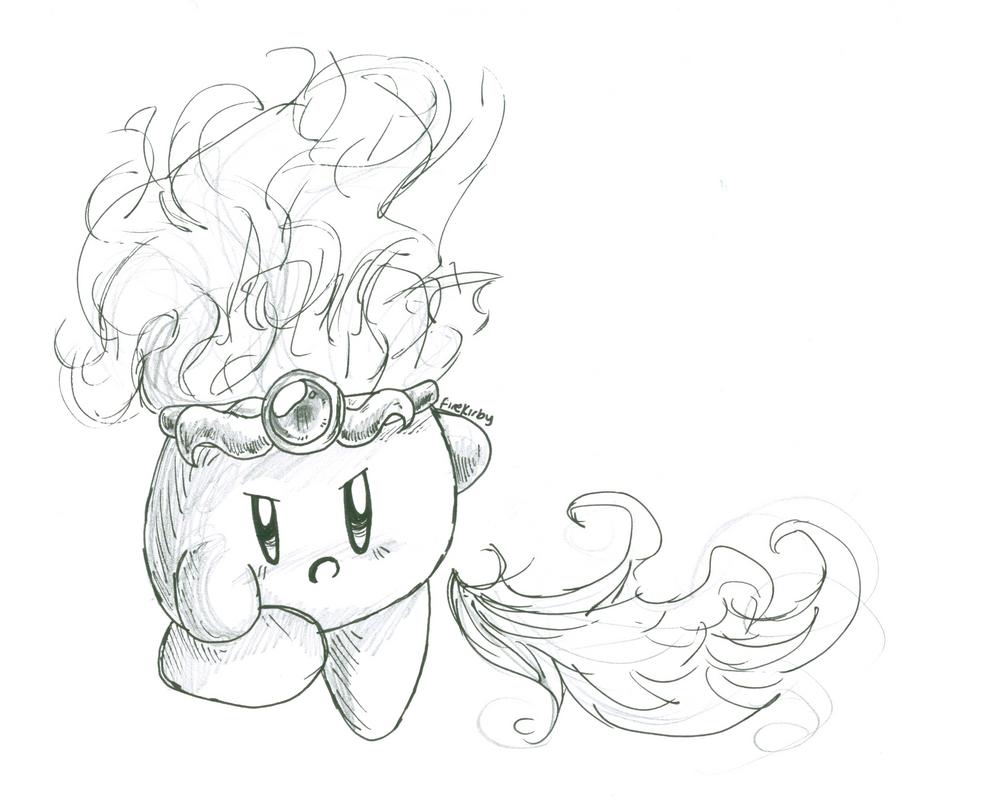 Coloring pages kirby - Coloring Pages Kirby Fire Kirby By Crashkirby888