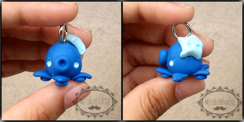 Octopus Charm (collaboration) by missblueturtle