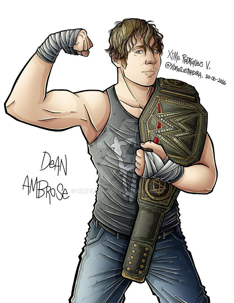 Dean Ambrose WWE by XimeniSHA