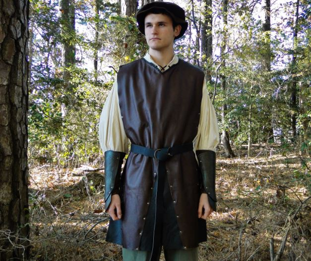 Leather Medieval Tunic by FolkoftheWood